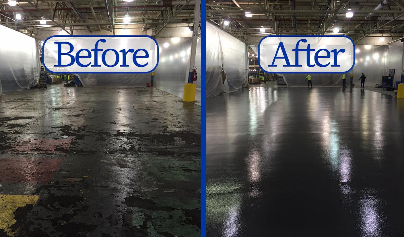 Before & After, Epoxy floor